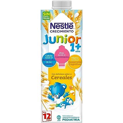 NESTLÉ JUNIOR 1+ Cereales - Leche para niños a partir de 1 año -