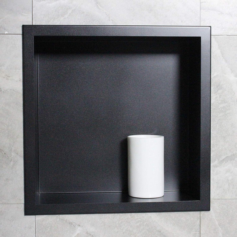 Farbe:Schwarz Farbe w/ählbar BERNSTEIN Wandnische aus Edelstahl BS303010-30 x 30 x 10 cm