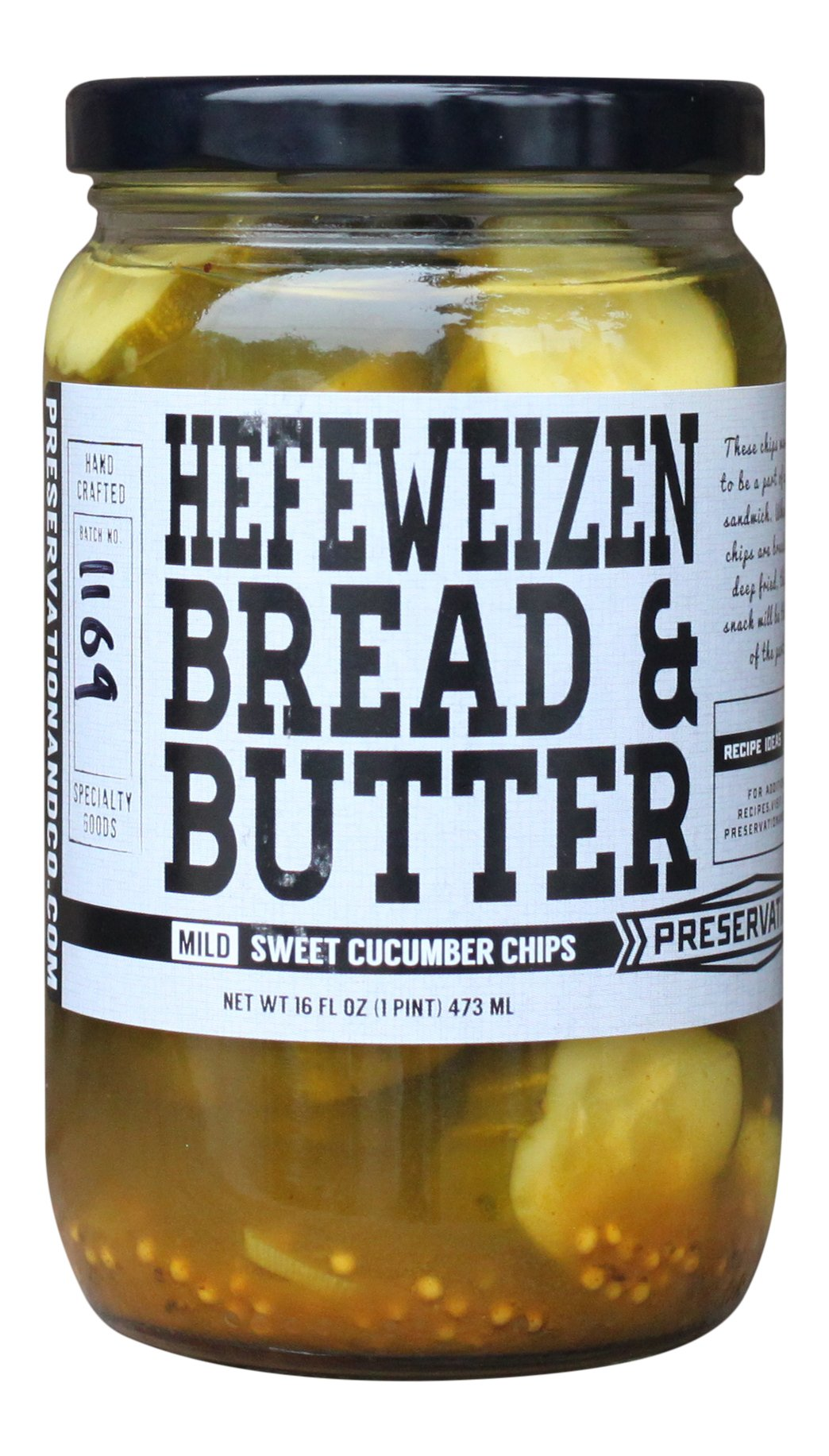 PRESERVATION AND CO Hefeweizen Bread Butter Pickles, 16 Ounce