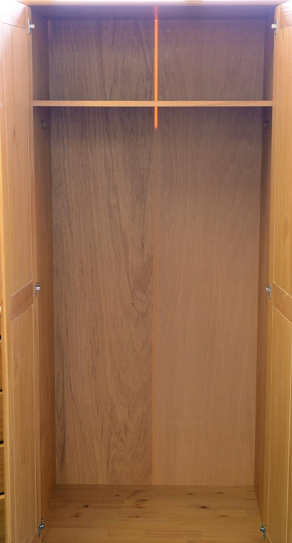 Right Deals UK 2 Door Solid Pine Wardrobe Bun Feet Hampshire Sol Antique Pine Range