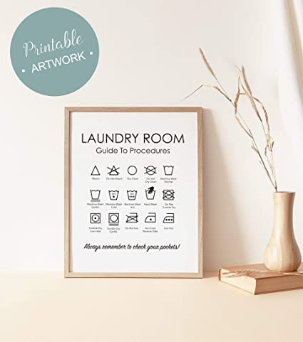 graphic relating to Laundry Symbols Printable identified as : Arvier Laundry Printable Laundry Symbols Print