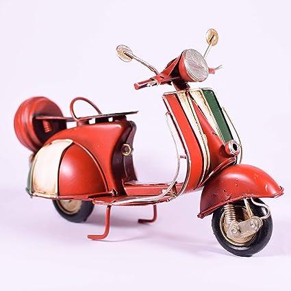 Amazon com: EliteTreasures Metal Red Scooter Vespa Model - Vintage