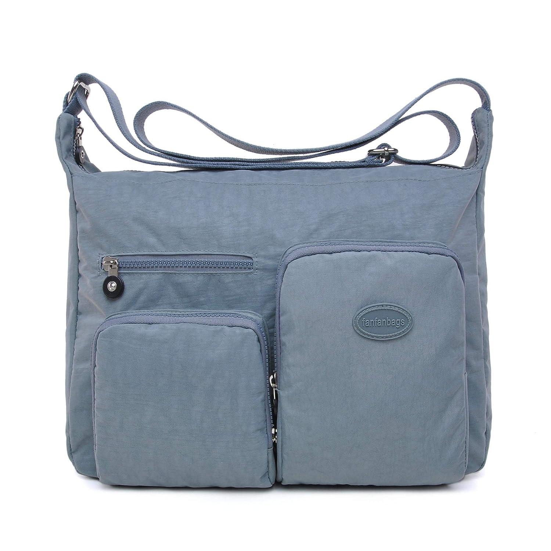 fanfanbags Large Cross Body Bags Travel Over Shoulder Bag Hobo Handbags for Women and Ladies Toto Handbag Waterproof Nylon Messenger Diaper Bag with Multi Pocket