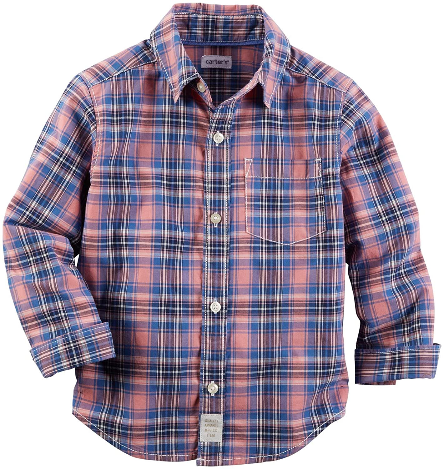 Carter's Baby-Boys Woven Buttonfront 225g529 Plaid 6 Months Carters 225G529-Plaid-6 Months