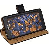 mumbi Etui à Clapet cuir Sony Xperia Z3 Compact Portefeuille Book style Noir