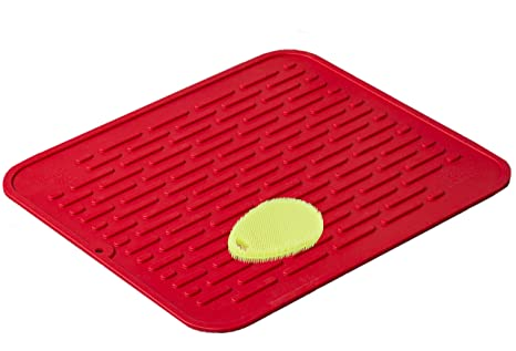 Relatively Amazon.com: Red Extra-Large Silicone Dish-Drying Mat & High-Heat  QW87