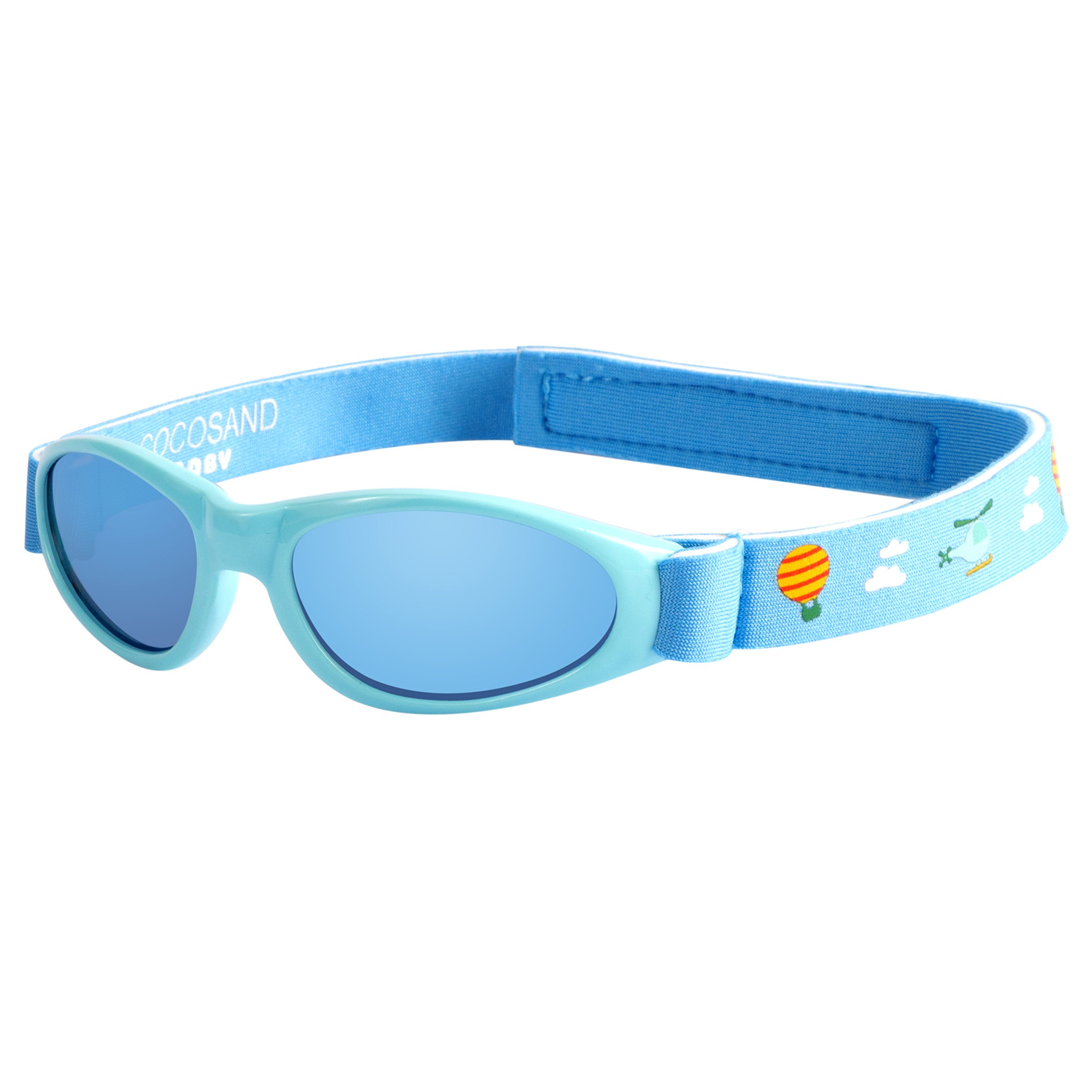 Baby Navigator Sunglasses with UV400 Lens and Adjustable Neoprene Straps & Exciting colors 0-12months