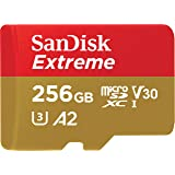 SanDisk 256GB Extreme microSD UHS-I Card with Adapter - U3 A2 - SDSQXA1-256G-GN6MA