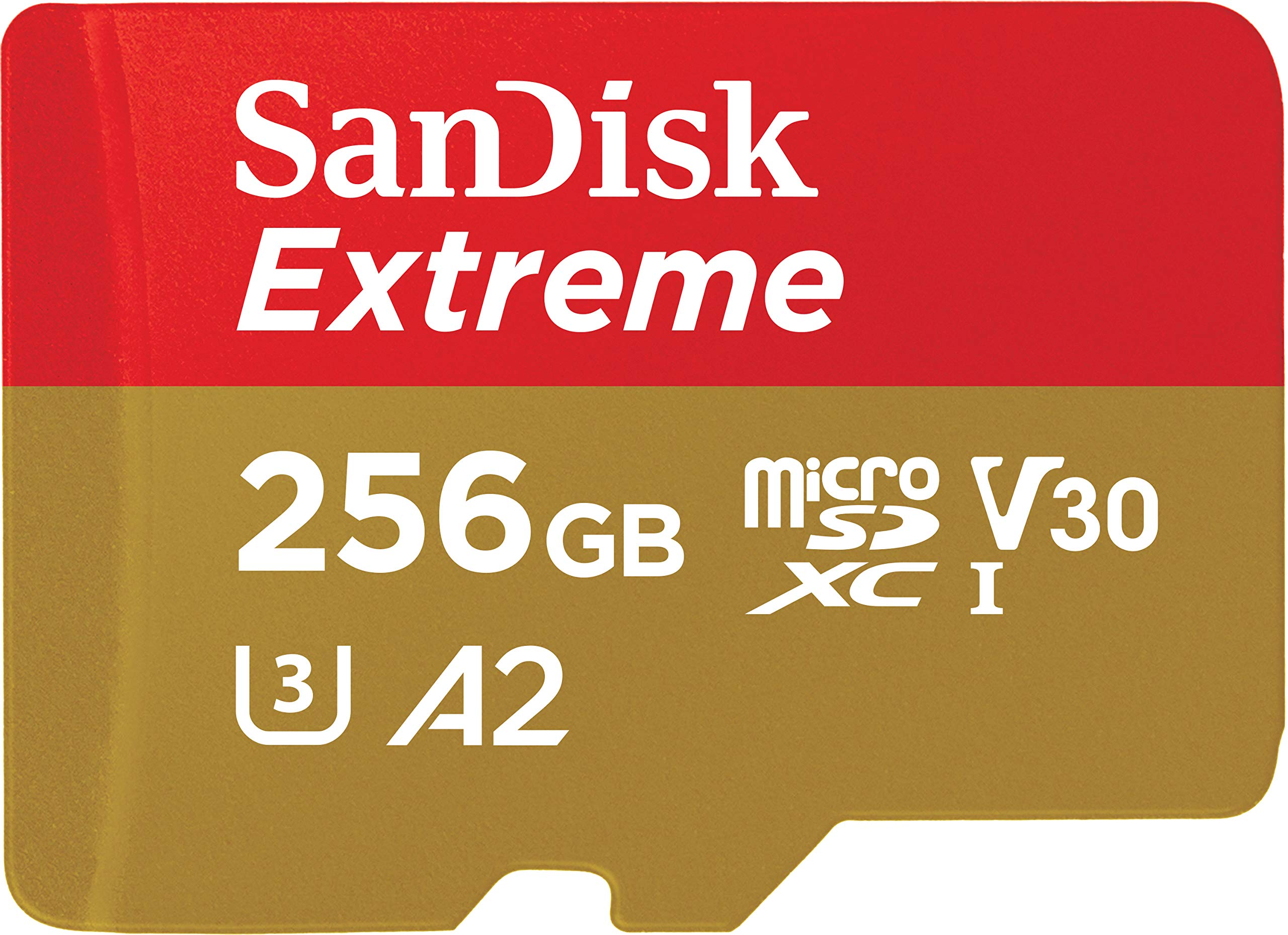 Sandisk 256gb Extreme Microsd Uhs-i Card With Adapter - U3.