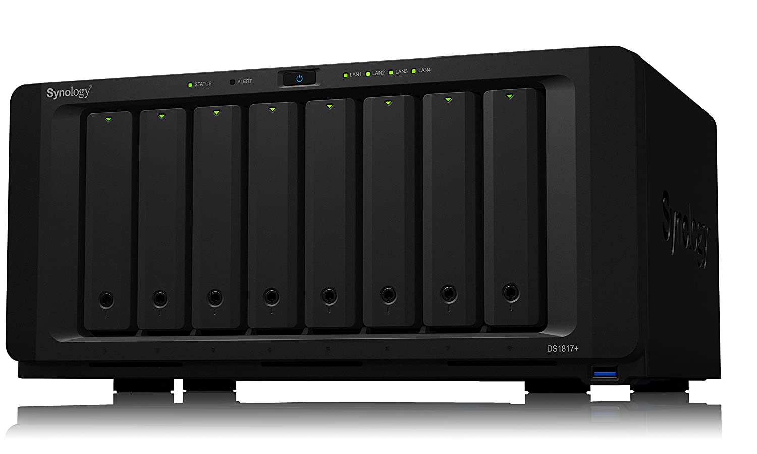 TALLA Enclosure. Synology Serie Plus DS1817+ NAS Escritorio Ethernet - Unidad Raid (2 GB y 8 GB, SSD, M.2, SATA, 2.5/3.5