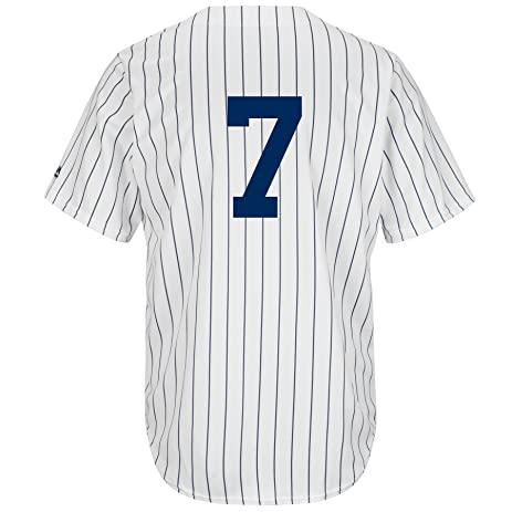 c6e0529ce16 ... Mickey Mantle Number 7 New York Yankees Cool Base Jersey (Small) Youth  Mickey Mantle Authentic WhiteNavy Blue Pinstripe Majestic Jersey MLB ...