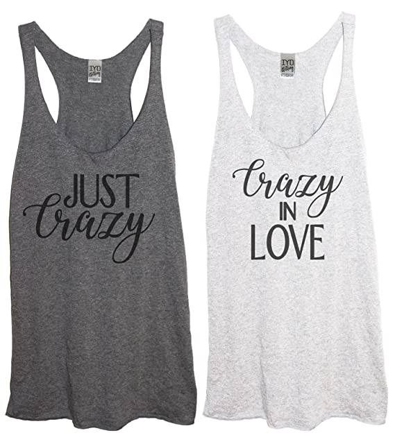 d3cabe9d276bc Amazon.com  Crazy in Love Just Crazy Tri-Blend Women s Racerback ...