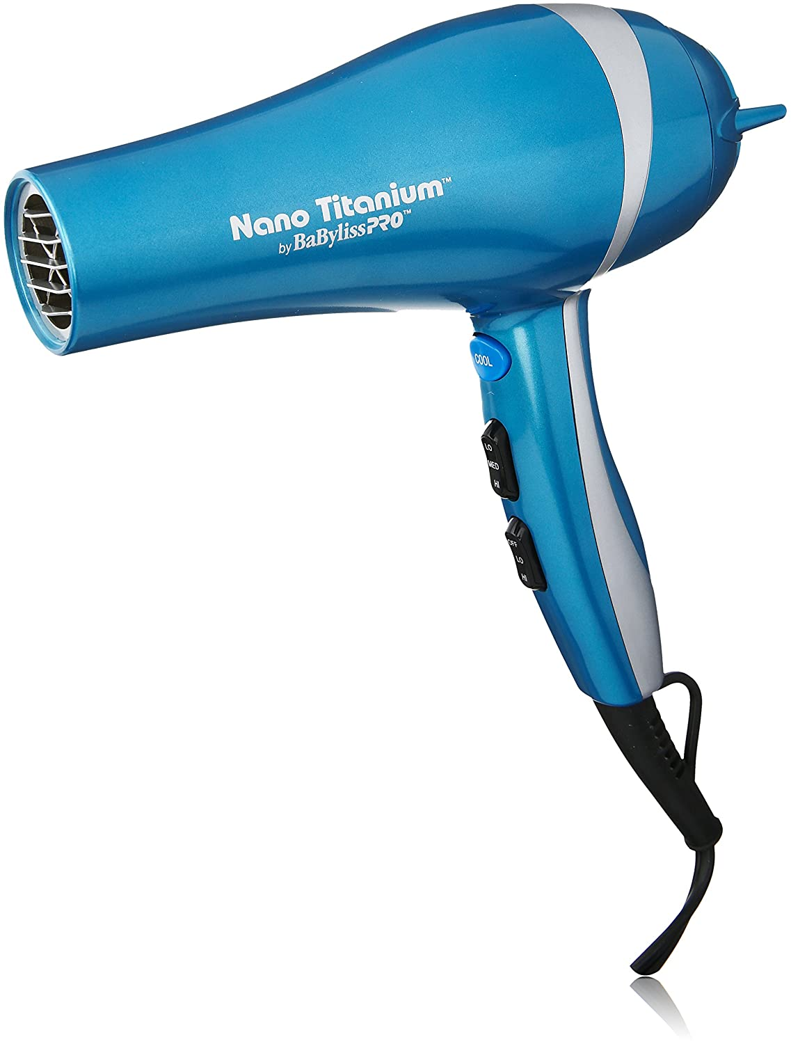 Babyliss Pro BABNT5548 2000 Watt Ionic Nano Titanium with Integrated Ion Generator Hair Dryer