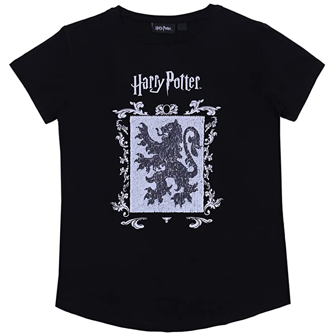 Camiseta Negra con Lentejuelas Harry Potter - 13-14 Años 164 cm