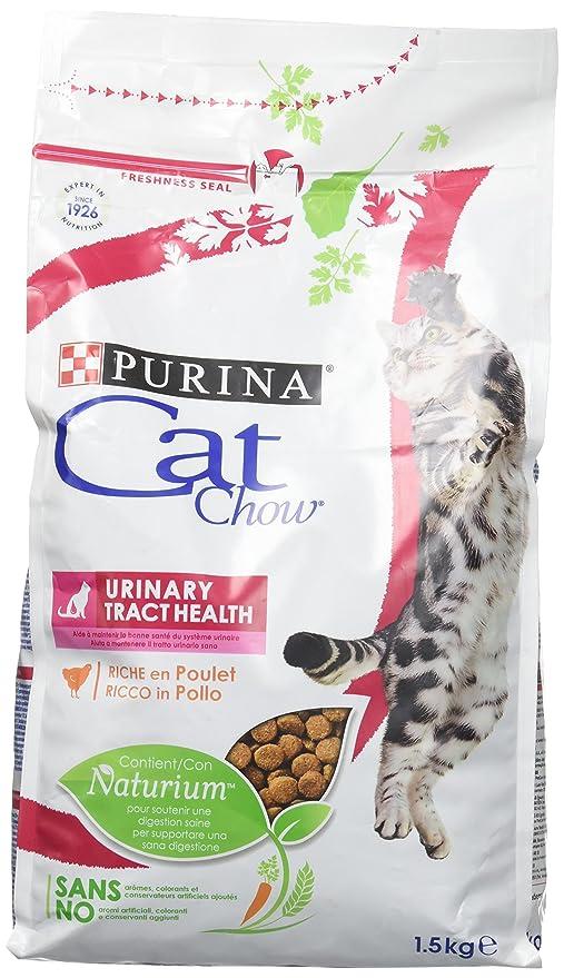 Purina Cat Chow Comida Seco para Gatos Adultos Cuidado Tracto Urinario Rico en Pollo - 1.5