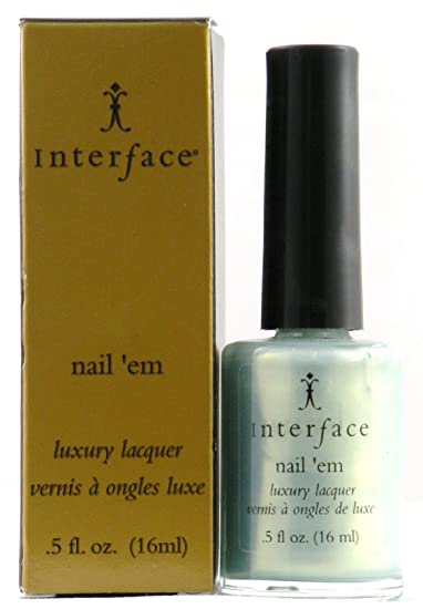 Image Unavailable. Image not available for. Color: Interface Nail 'Em Luxury Lacquer -Mint julep