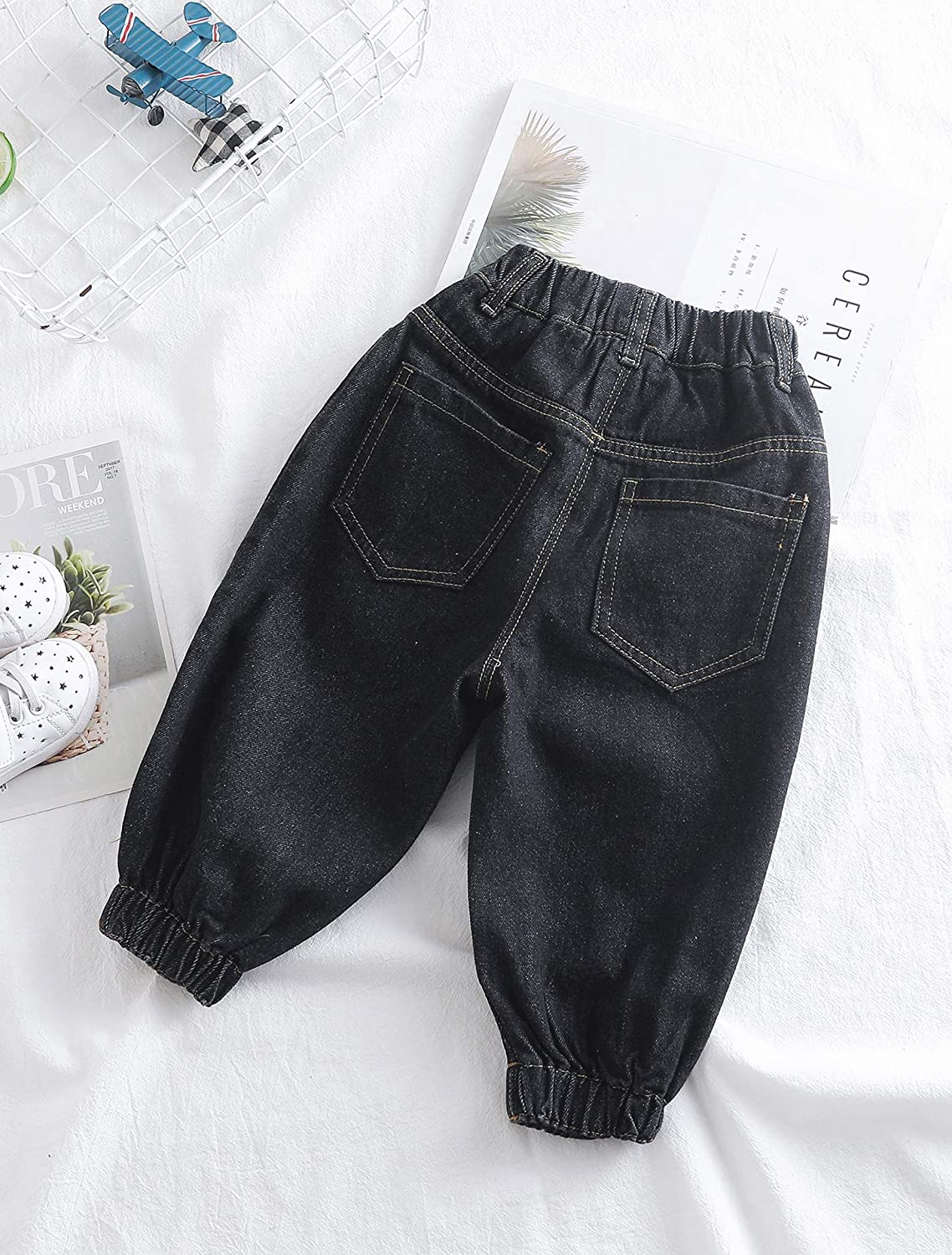 Kidscool Space Elastic Leg Opening Baby Little Kids Causual Jogger Jeans