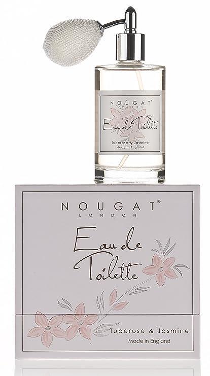 Nougat London Limited Agua de colonia para mujer en spray, aroma azucena y jazmín