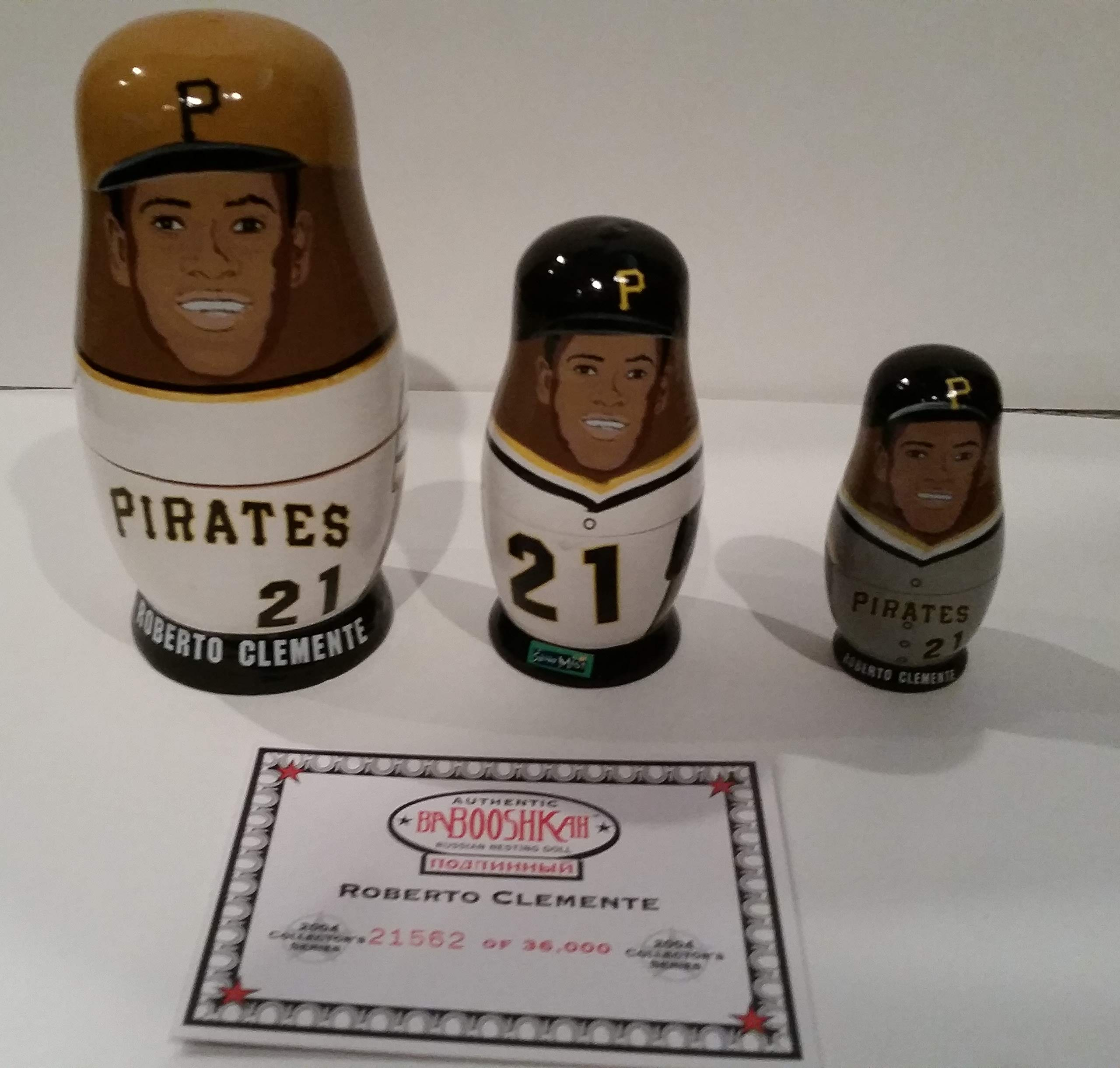 ROBERTO CLEMENTE RUSSIAN NESTING DOLLS PITTSBURGH PIRATES #2,1562/36,000