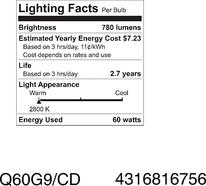 GE Lighting 16756 60-Watt Halogen Lighting G9 Light Bulb, 1-Pack - - Amazon.com