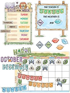 Creative Teaching Press Safari Friends Calendar Set Bulletin Board (Accent Classrooms, Walls, Hallways, Displays Learning Spaces and More)