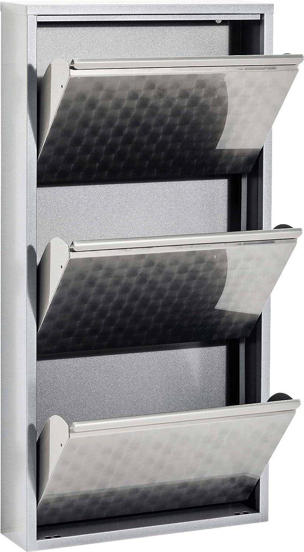 103x50x14cm Flurm/öbel schmal Bronze H//B//T klein Kare Design Schuhkipper Carusa Schuhablage Metall 42547, 3 Klappen