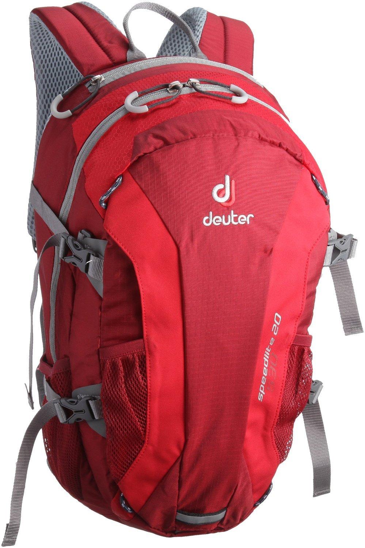 Deuter Speed Lite 20 - Ultralight 20-Liter Hiking Backpack, Cranberry / Fire, 20 Liter