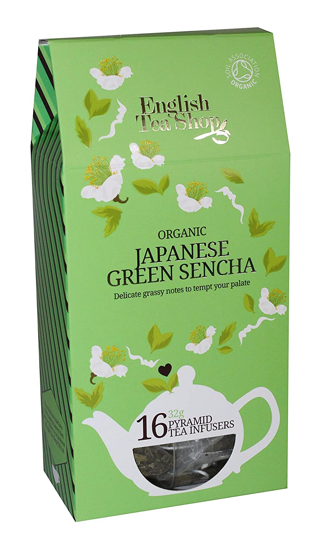 English Tea Shop - Japanese Green Sencha - 16 Pyramid Tea Infusers - 32g