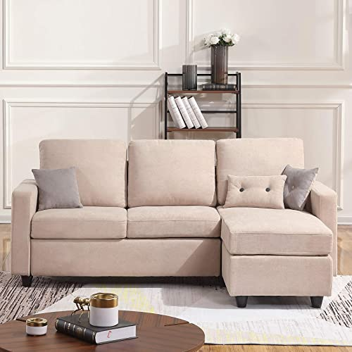 HONBAY Convertible Sectional Sofa Couch L Sofa