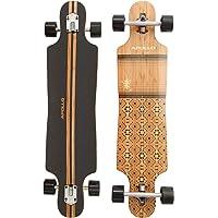 Apollo Longboard Special Edition Komplettboard inkl. T-Tool, mit High Speed ABEC Kugellagern, Drop-Through Freeride Skaten Cruiser Boards