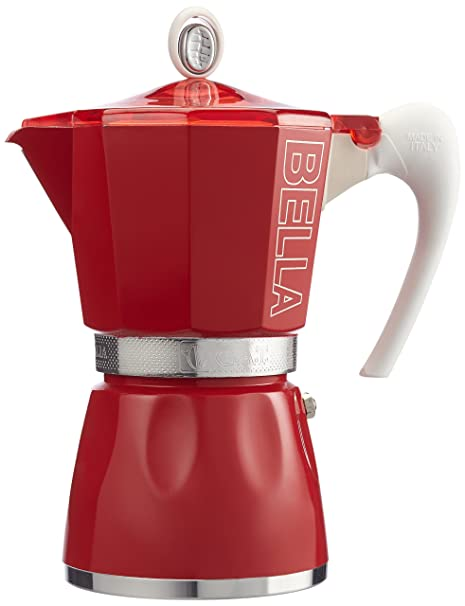 GAT 2790000093 - Cafetera Italiana, Color Rojo