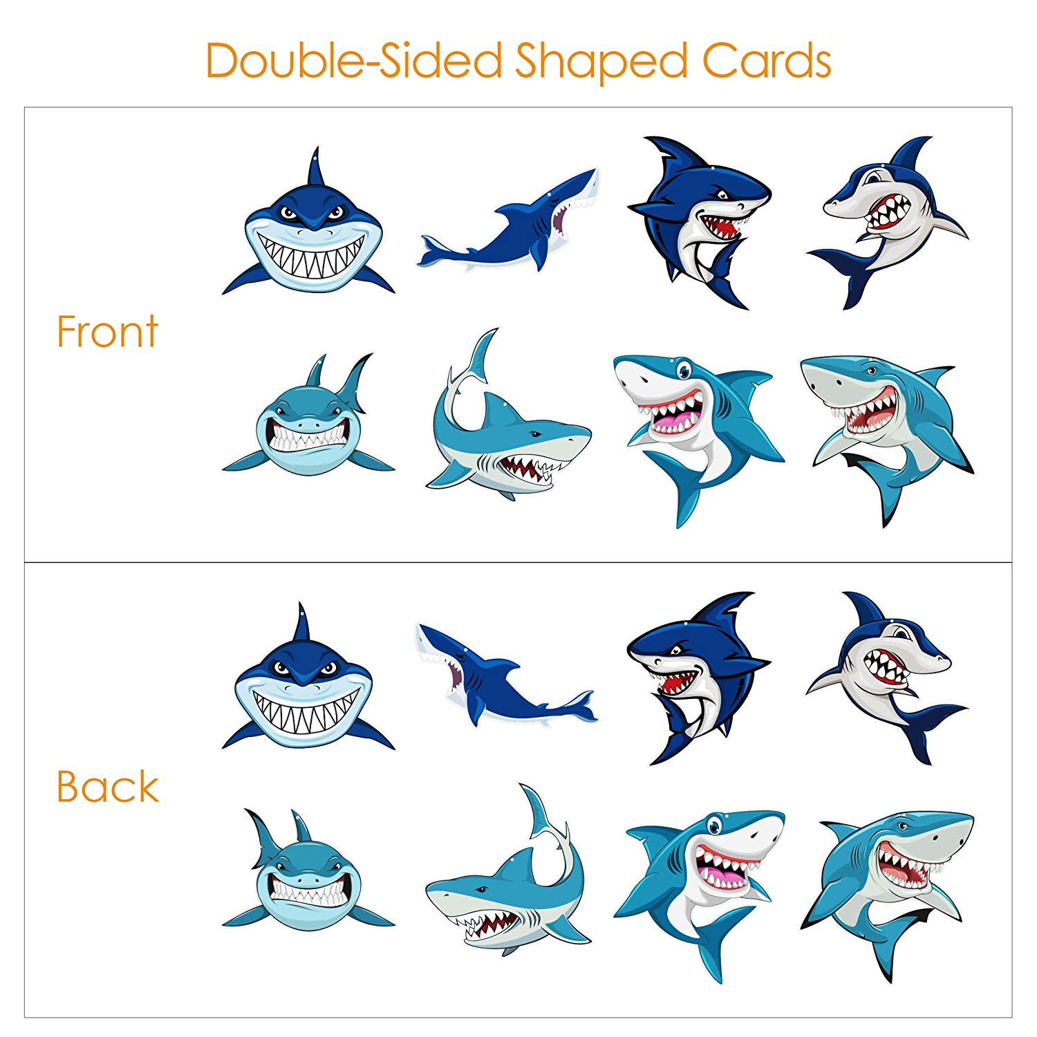 Bedroom Shark-Decorations-Party-Supplies 32 PCS Shark Hanging Swirls Ceiling Ornaments for Kids Boys Girls Shark Theme Birthday Party,Baby Shower Party