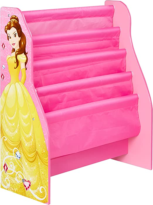 MDF//Tessuto Principesse Disney Libreria Verticale a Tasche Multicolore WAP 60x51x23 cm Worlds Apart