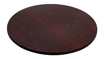 Flash Furniture 42u0027u0027 Round Table Top With Black Or Mahogany Reversible  Laminate Top