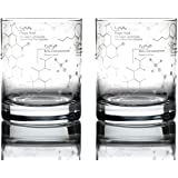 Greenline Goods Whiskey Glasses - 10 oz Tumbler Gift Set – Science of Whisky Glasses (Set of 2) Etched with Whiskey…