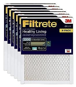 Filtrete Elite Allergen Reduction Filter, 2200 MPR, 16x20x1 6 PACK