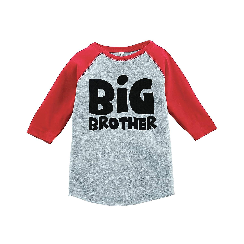 7 ate 9 Apparel Boys Big Brother Red Baseball Tee