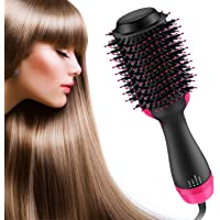 BESTOPE One Step Hair Dryer and Volumizer,4 IN 1 Professional Hair Dryer Brush,Negative Ion Hot Air Brush,Hair Blow Dryer Brush,Hair Straightener Brush Curler, Hair Hot Comb with Anti-Scald Feature for All Hair Types