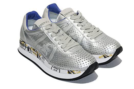 PREMIATA , Damen Sneaker, silber - silber   schwarz - Größe  36 ... fd44d519db