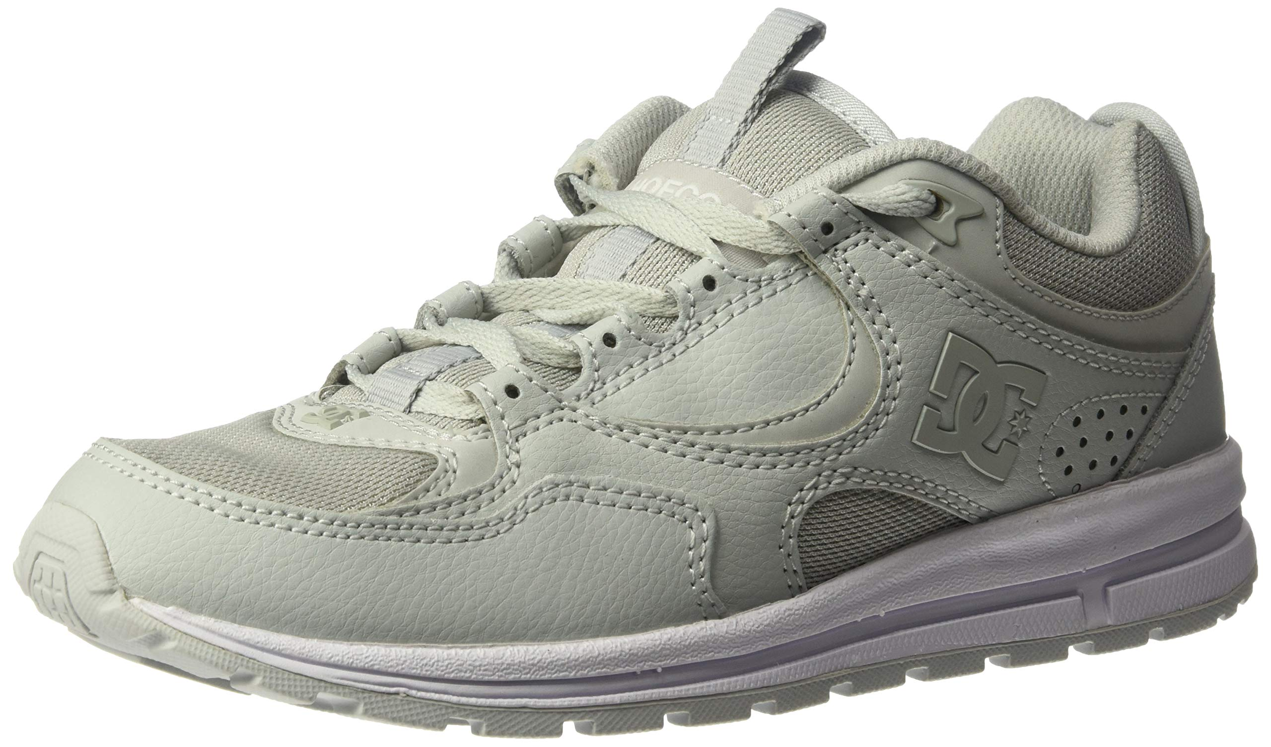 DC Women's Kalis LITE Skate Shoe, Grey, 8 M US by DC