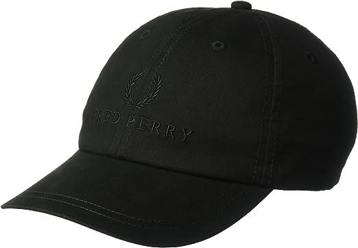 FRED PERRY MEN/'S  CLASSIC BLACK BASEBALL TENNIS CAP