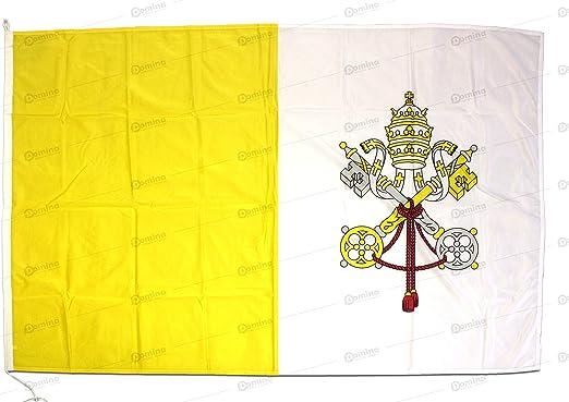 Bandera Vaticano 150x100cm en tela náutico resistente al viento 115g/m², bandera de Las Ciudad del Vaticano 150x100, bandera del Vaticano 150x100cm con cordón o mosquetones y doble costura perimetral: Amazon.es: Jardín