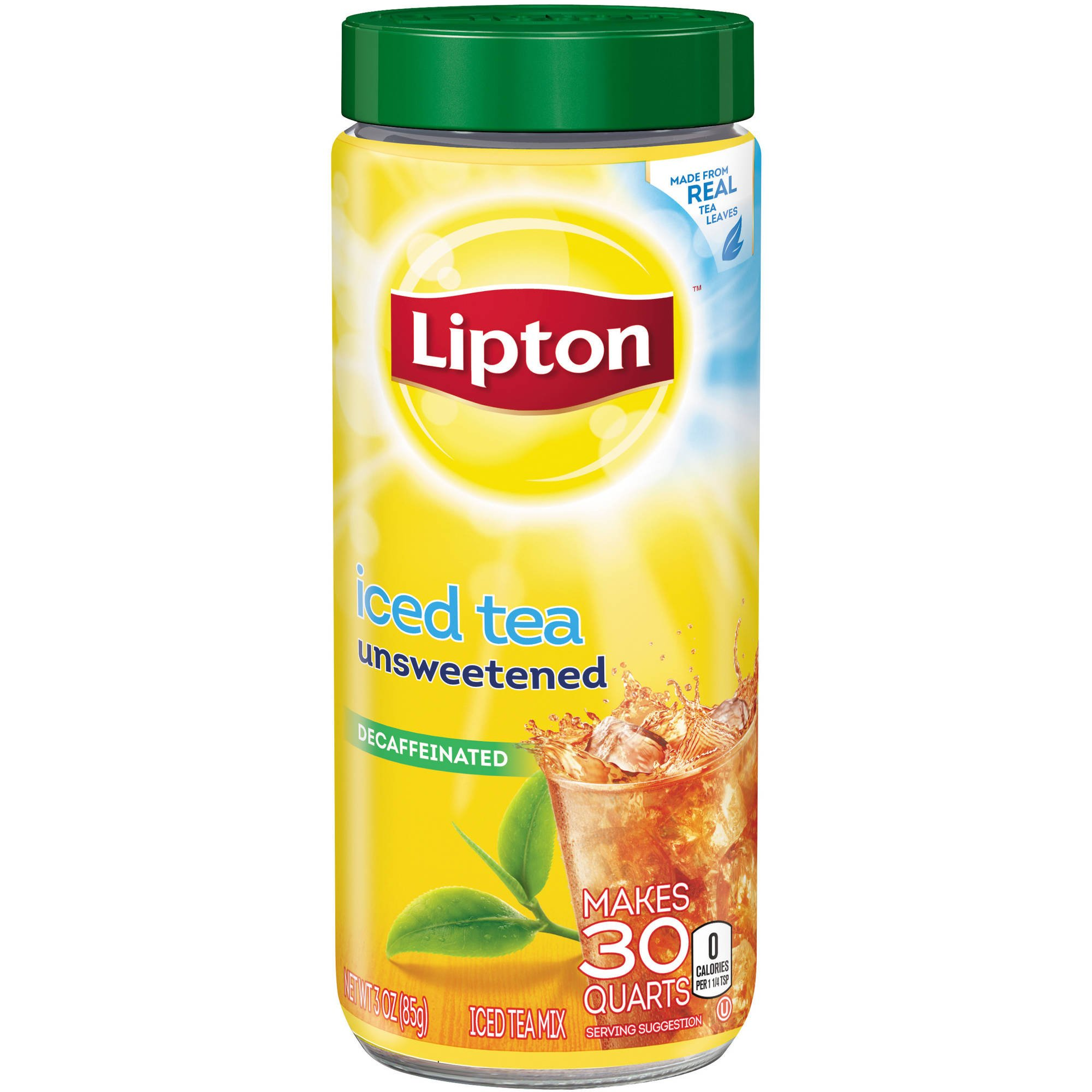 Lipton Decaffeinated and Unsweetened Iced Tea Mix, 3 Ounce (Pack of 3) by Lipton [Foods] by Lipton (Image #1)