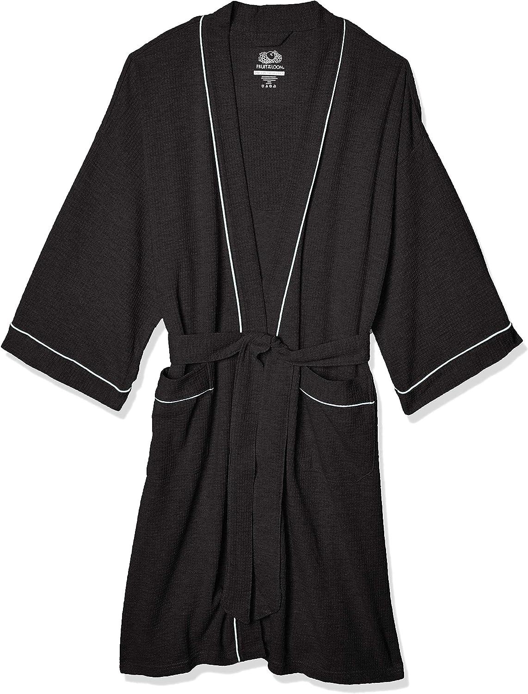 Fruit of the Loom Men's Waffle Kimono Robe