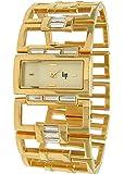 Lip - 10831612 - Montre Femme - Quartz Analogique - Cadran Blanc - Bracelet en Métal Jaune