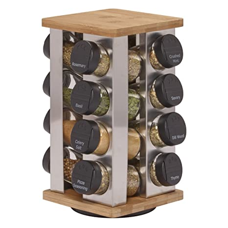 Kamenstein Warner 16 Jar Revolving Spice Rack With Free Spice Refills For 5  Years
