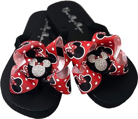 Bow Flip Flops Minnie Mouse, Glitter