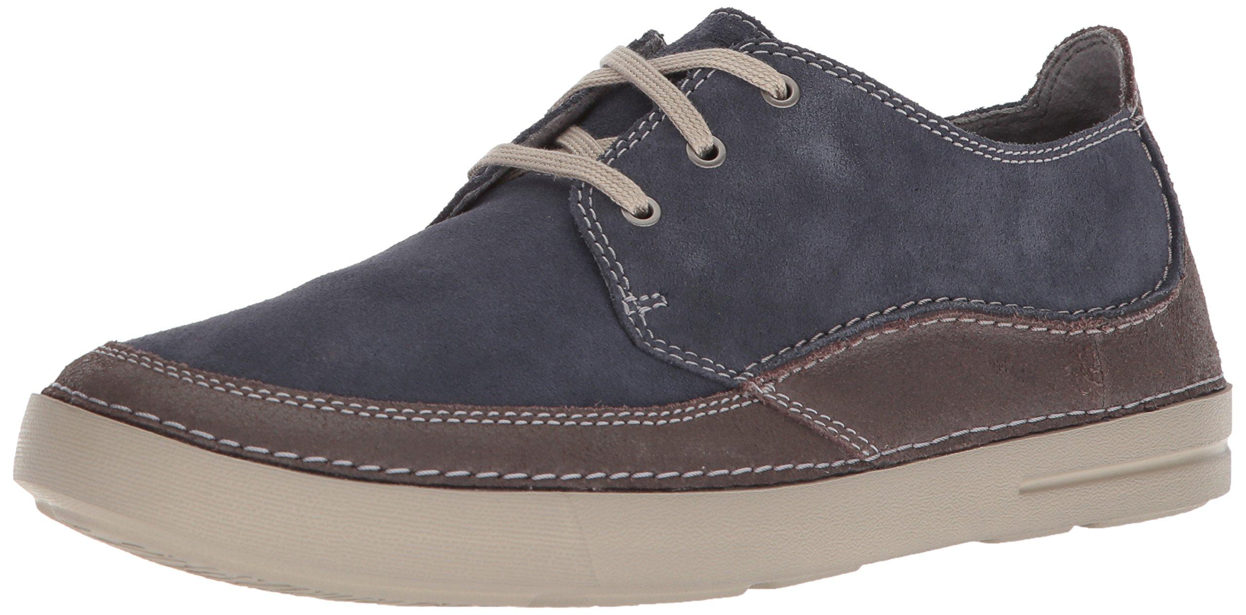 CLARKS Men's Gosler Edge Sneaker, Blue Suede, 9.5 M US