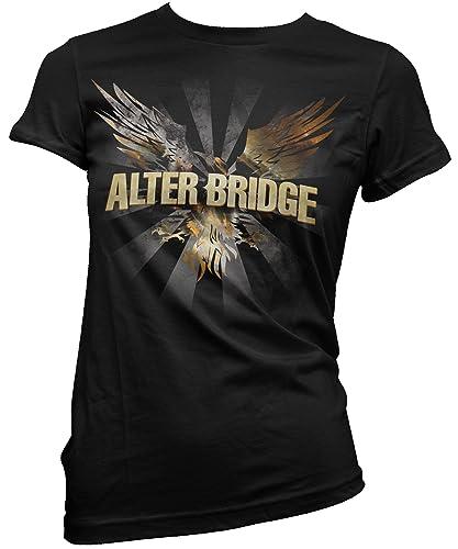 T-shirt Donna Alter Bridge – Blackbird Maglietta 100% cotone LaMAGLIERIA, S, nero