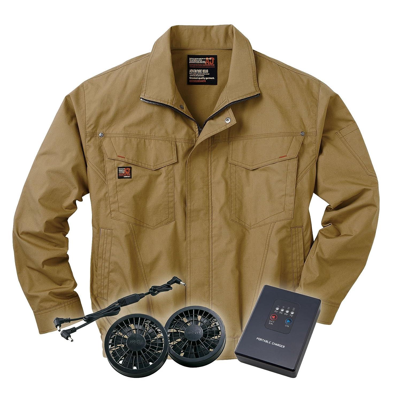 空調服ブルゾンセット (空調服+ファン+リチウムバッテリー) ss-ku91400-l XL キャメル B00M6S4Y3S